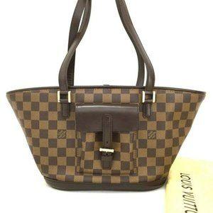 💯 Auth Louis Vuitton Damier Manosque PM Tote Bag